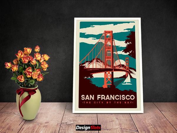 Free Artwork Frame Mockups Design Download by Designslots