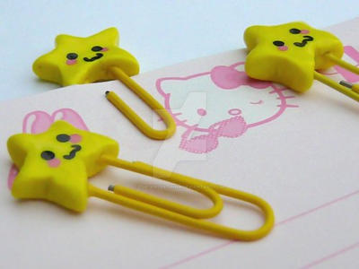 Kawaii Star Paperclips by The-Killer-Anna