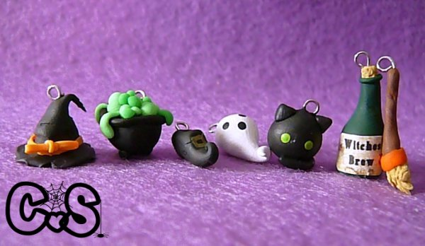 Halloween Witch Charms by The-Killer-Anna