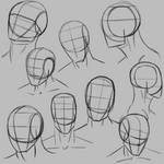 Drawing more simple heads for practice