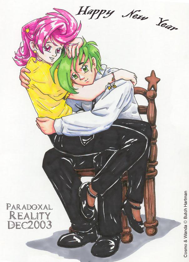 Anime Style Cosmo n Wanda by paradoxal