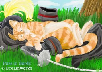 Sleepy Puss by paradoxal
