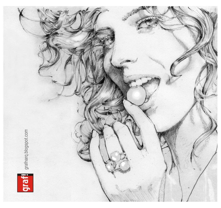 Eva Herzigova Girl Panic by grafnarq