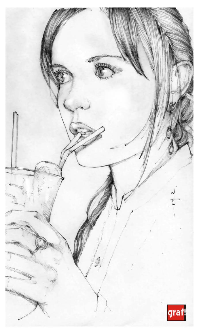 my glass of lemonade by grafnarq