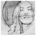Girl with Moustache