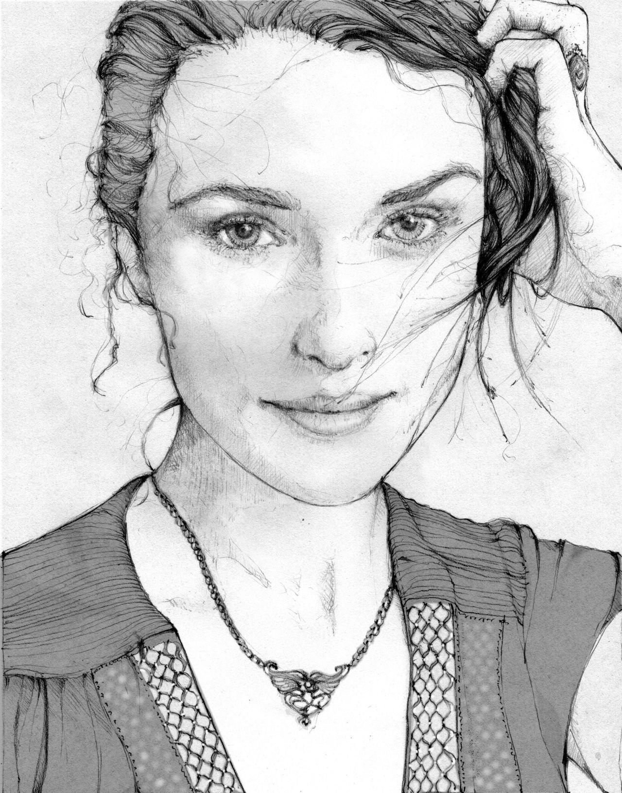 every poet is a thief _Rachel Weisz by grafnarq