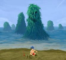 Seaweed Monsters Attack! by AdamDangeArt