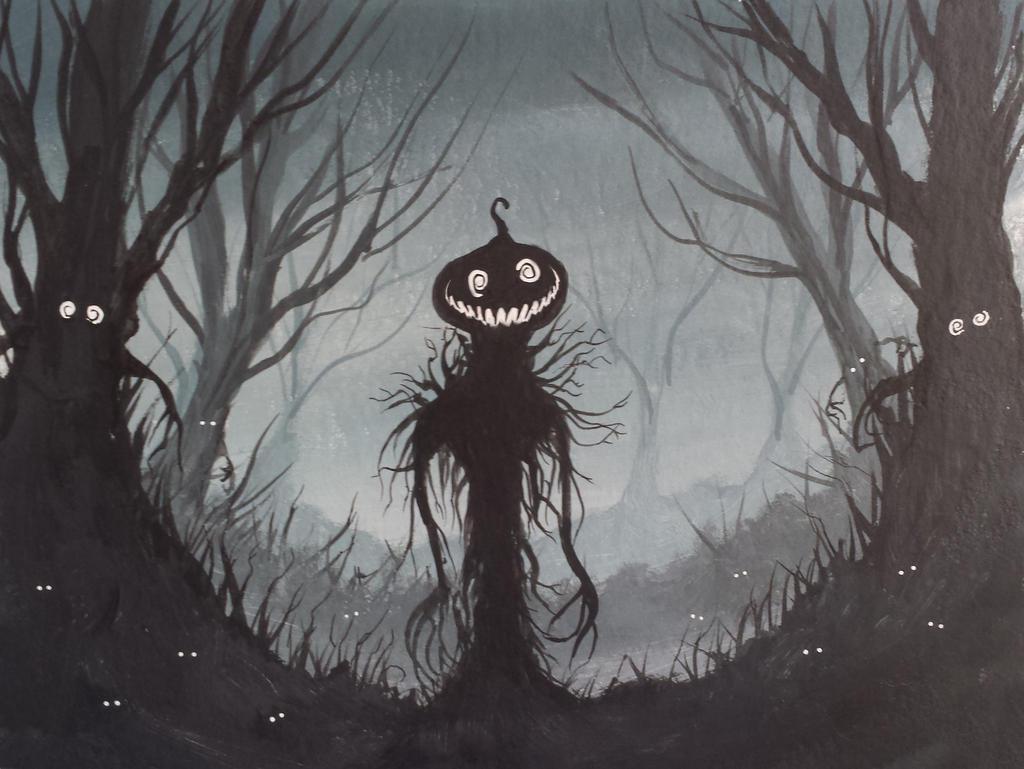 Pumpkin Creep by AdamDangeArt