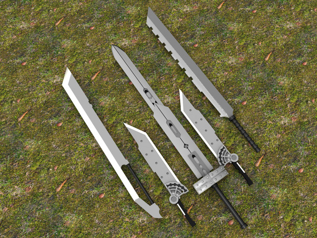 Real Buster Sword Buster Sword 2 0 in Pieces by