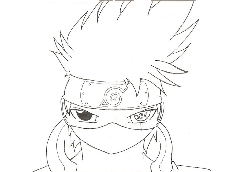 How to draw Kakashi Hatake step by step Drawing tutorials for kids and beginners