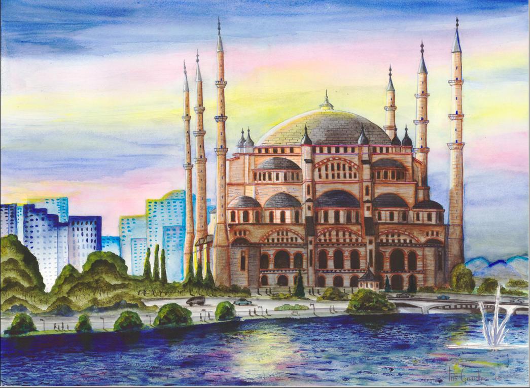 Adana Turkey  city pictures gallery : Adana Sabanci Mosque, Turkey by IrisGrundler on DeviantArt