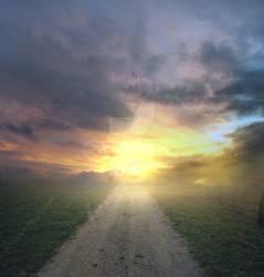 Sunset path - premium stock