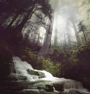 Waterfall II - premium stock