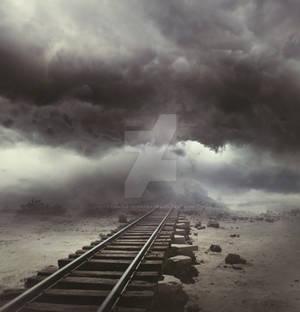 Rail in sky - premium stock