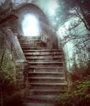 Magic stairs - premium stock