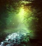 Waterfall dream - premium stock