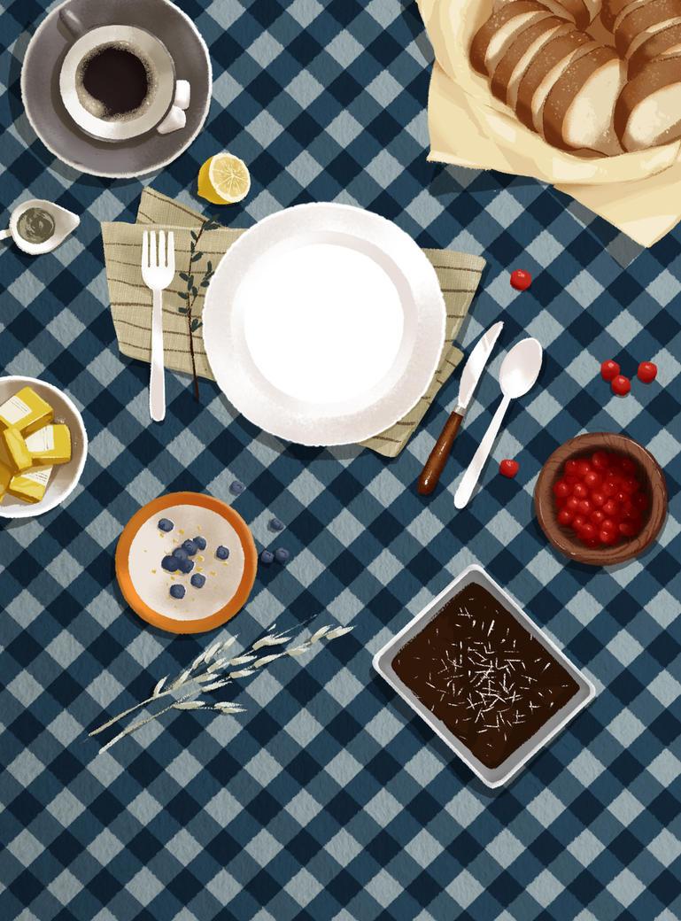 Breakfast table by N0tisme