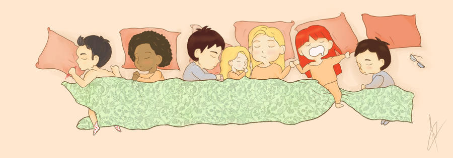 Sleeping Fringies by Kiska-eyes