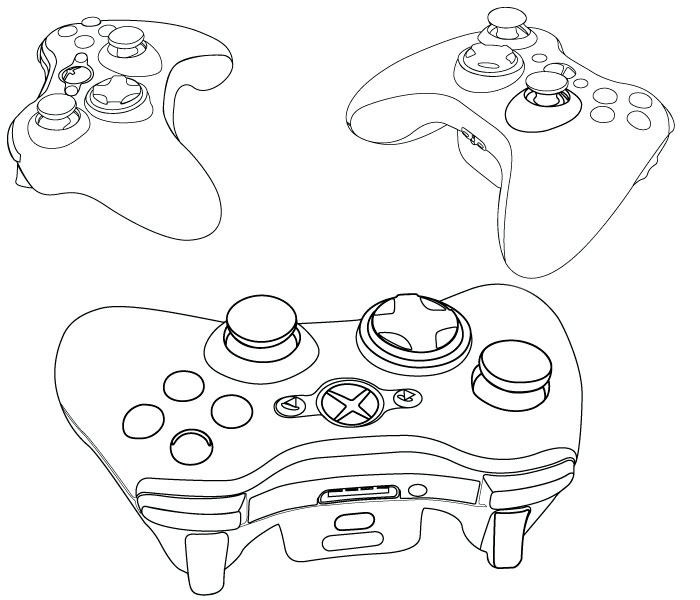 Contour Line Drawing Xbox One : Xbox one controller outline