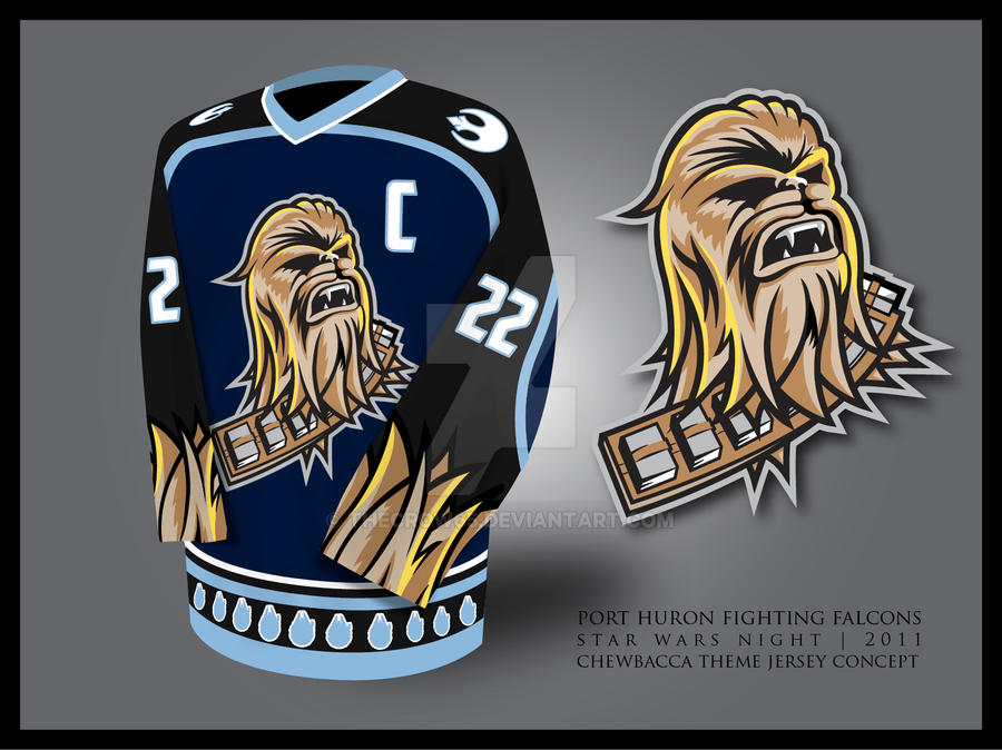 Fighting Falcons Chewbacca 3D by theCrow65