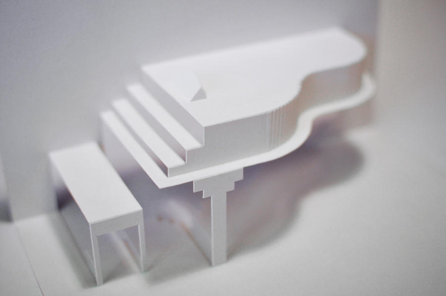 Origami Piano Pop Up Greeting Card By TheCrow65