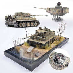 1/25th scale Tamiya Tiger I, Kharkov, May 1943