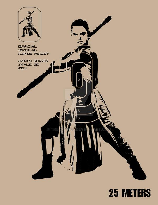 Stormtrooper Target IX - Rey by theCrow65