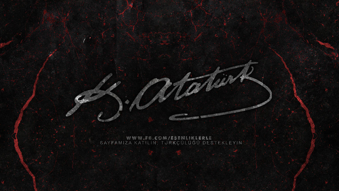 mustafa kemal ataturk dark wallpaper by utkugrafik on
