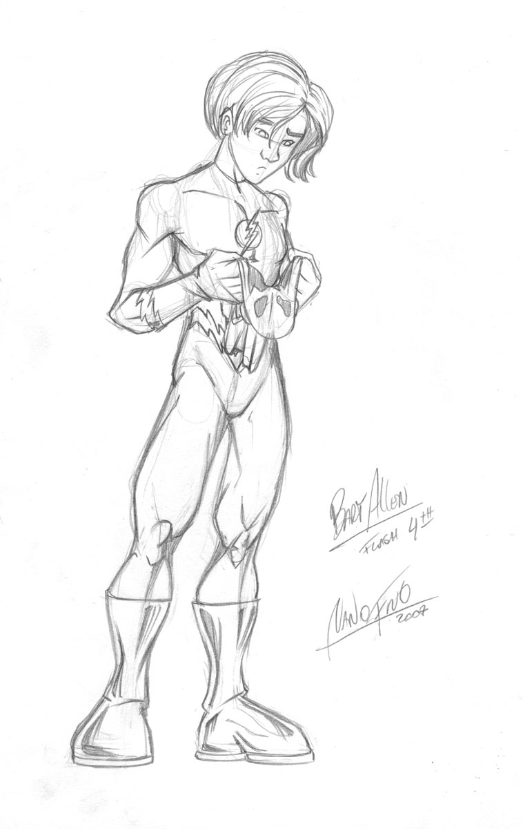 Bart Allen is Flash by NanoFino