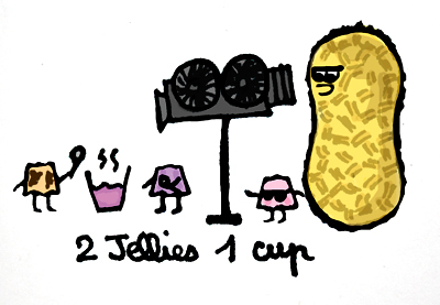 2 jellies 1 cup. henry peanut by itsabrina