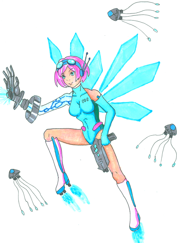 Bubble Gum Space Fairy by icedragonair