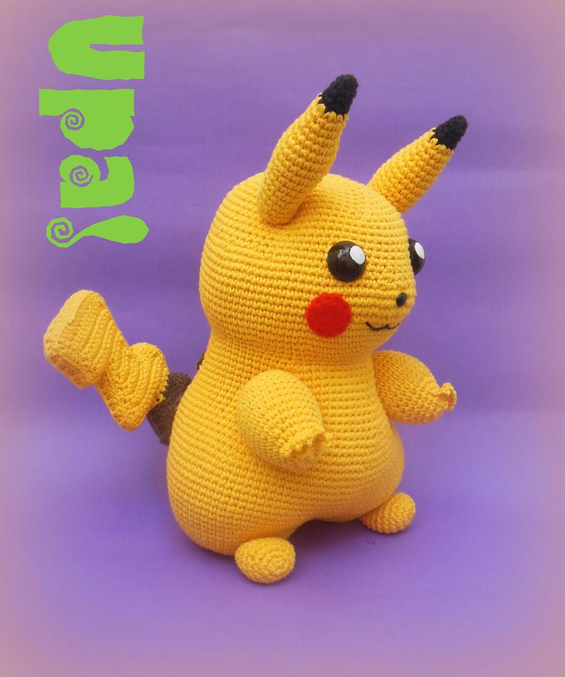 Magnífico Patrón Pikachu Crochet Ornamento - Manta de Tejer Patrón ...