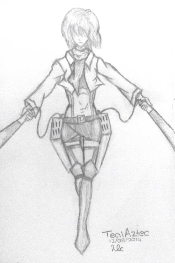 Mikasa Ackerman by TealAztec