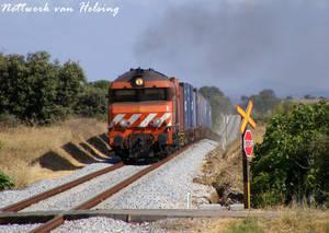 Full train, half loaded