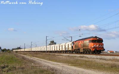 A train of cars