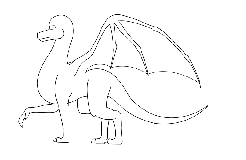 free simple dragon template by cookiehalo on deviantart