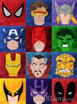 Marvel Heroes Minimalism