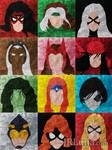 Marvel Heroines Minimalism