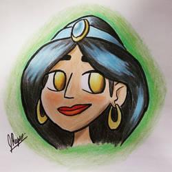 Princess Jasmine Doodle by JRLunaArt