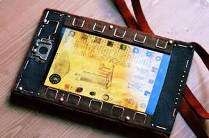 Steampunk tablet V2 - Nexus 7 by yukosteel