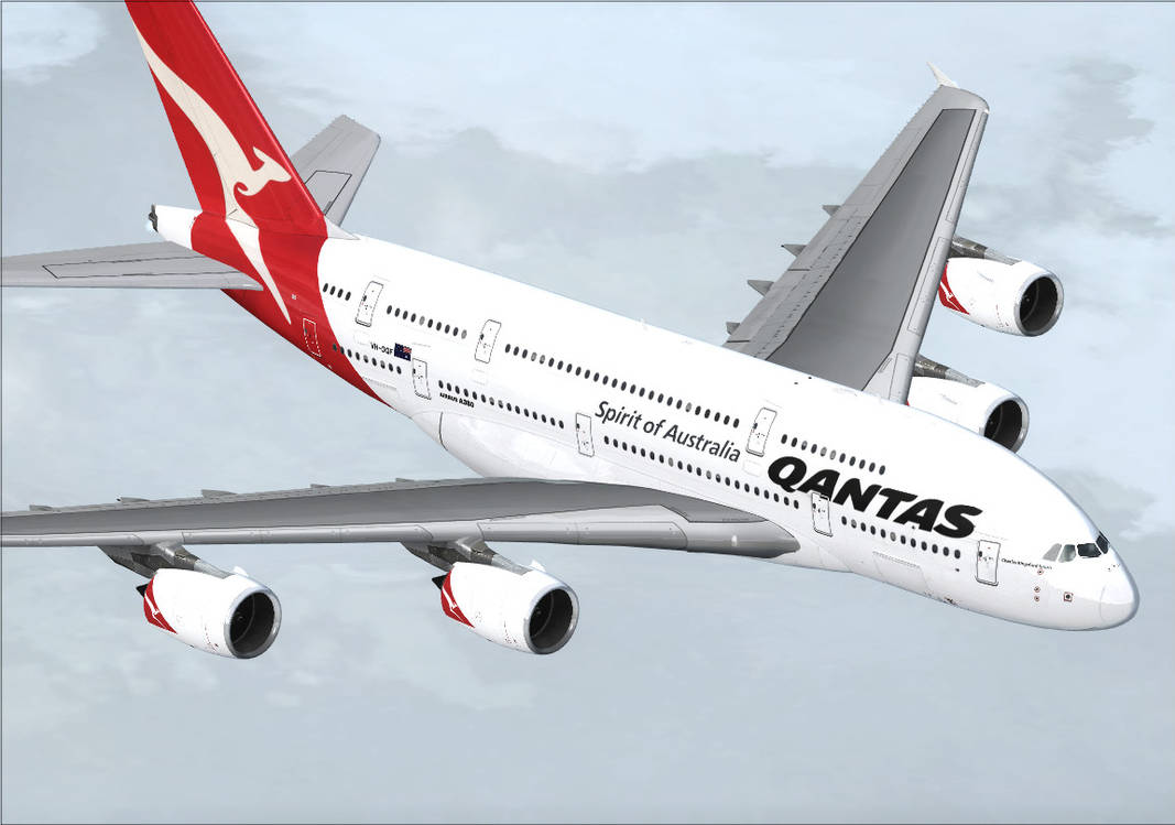 Qantas A380 4 by Denodon on DeviantArt