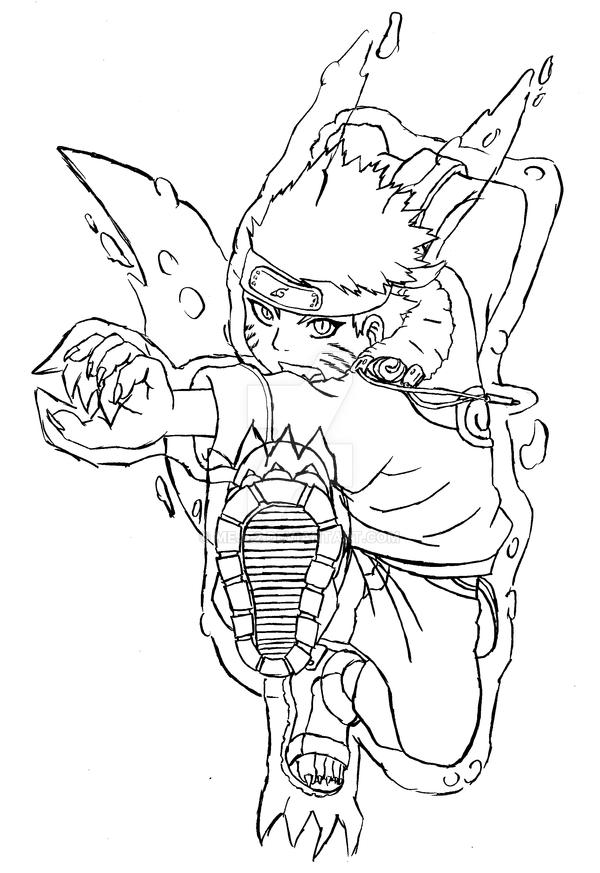 Naruto Kyubi-style Lineart by Meje2 on DeviantArt