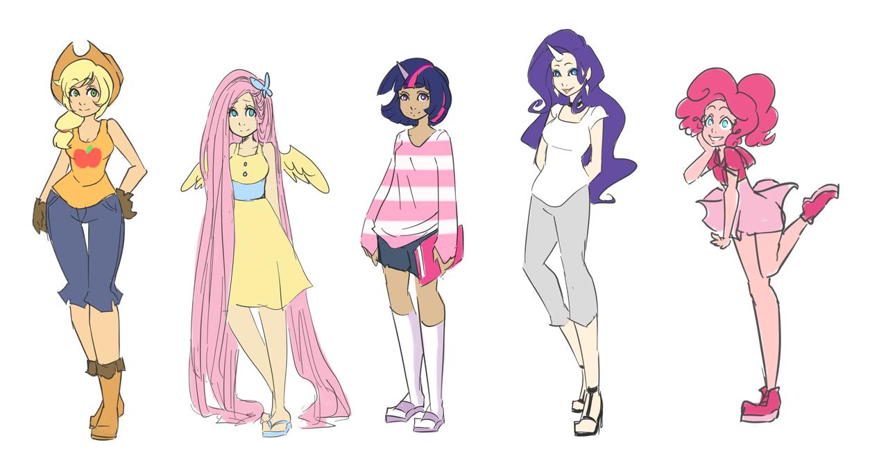 Equestria Girls Fashion Design Sketch Portfolio