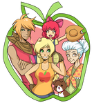 The Ponyville Apple Family by ssenarrya