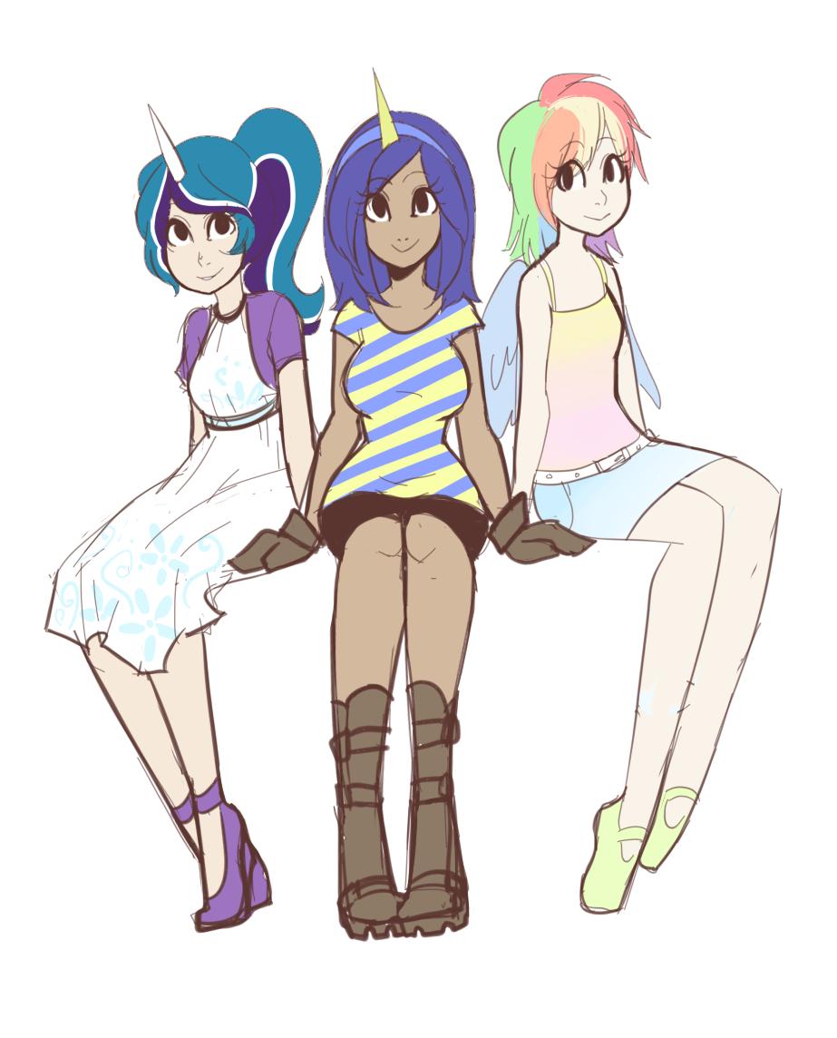 3 girls by ssenarrya