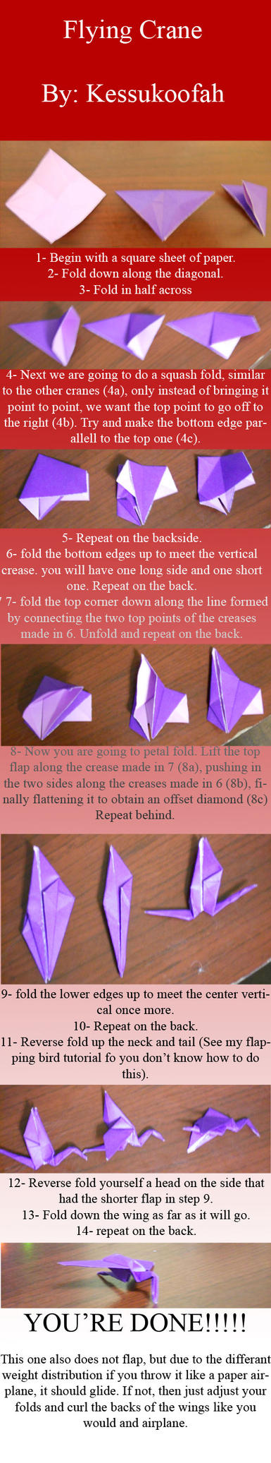 Tutorial: Flying Crane by Kessukoofah