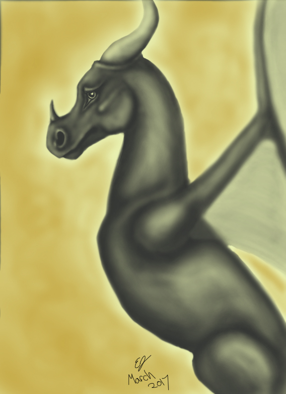 Sepia Dragon by EquineEmma