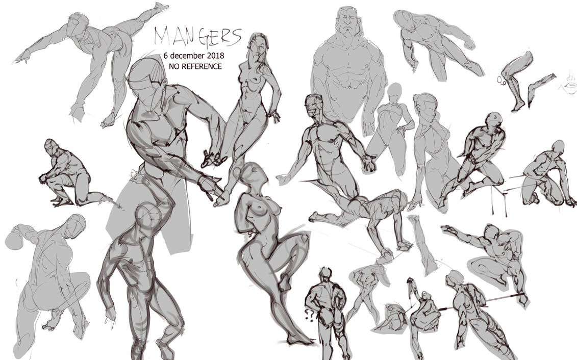 Mangerz-Figure-drawing-Poses-Anatomy-No-ref 2 n156 by mangerzpk on