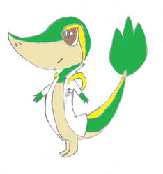 OC Profile: Issac Kingston (Snivy form) by TheLOLMinecrafter