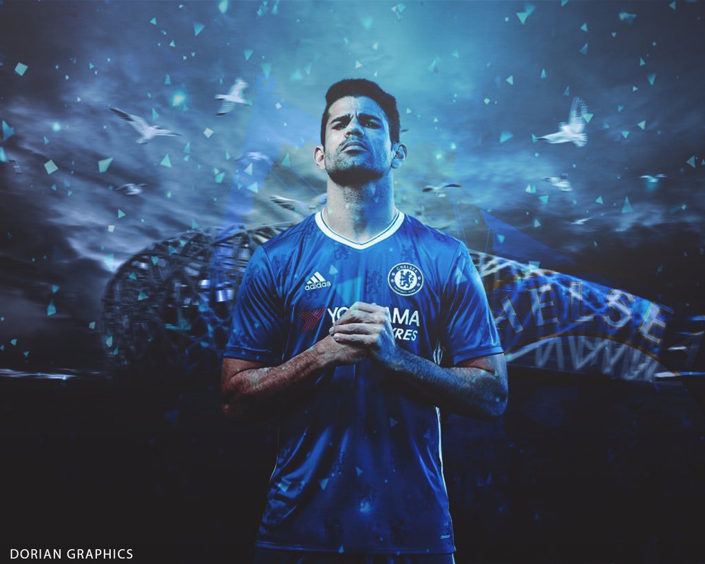 By Dorian Graphics By Doriangraphic: Diego Costa Wallpaper 2016 By Dorian Graphics By